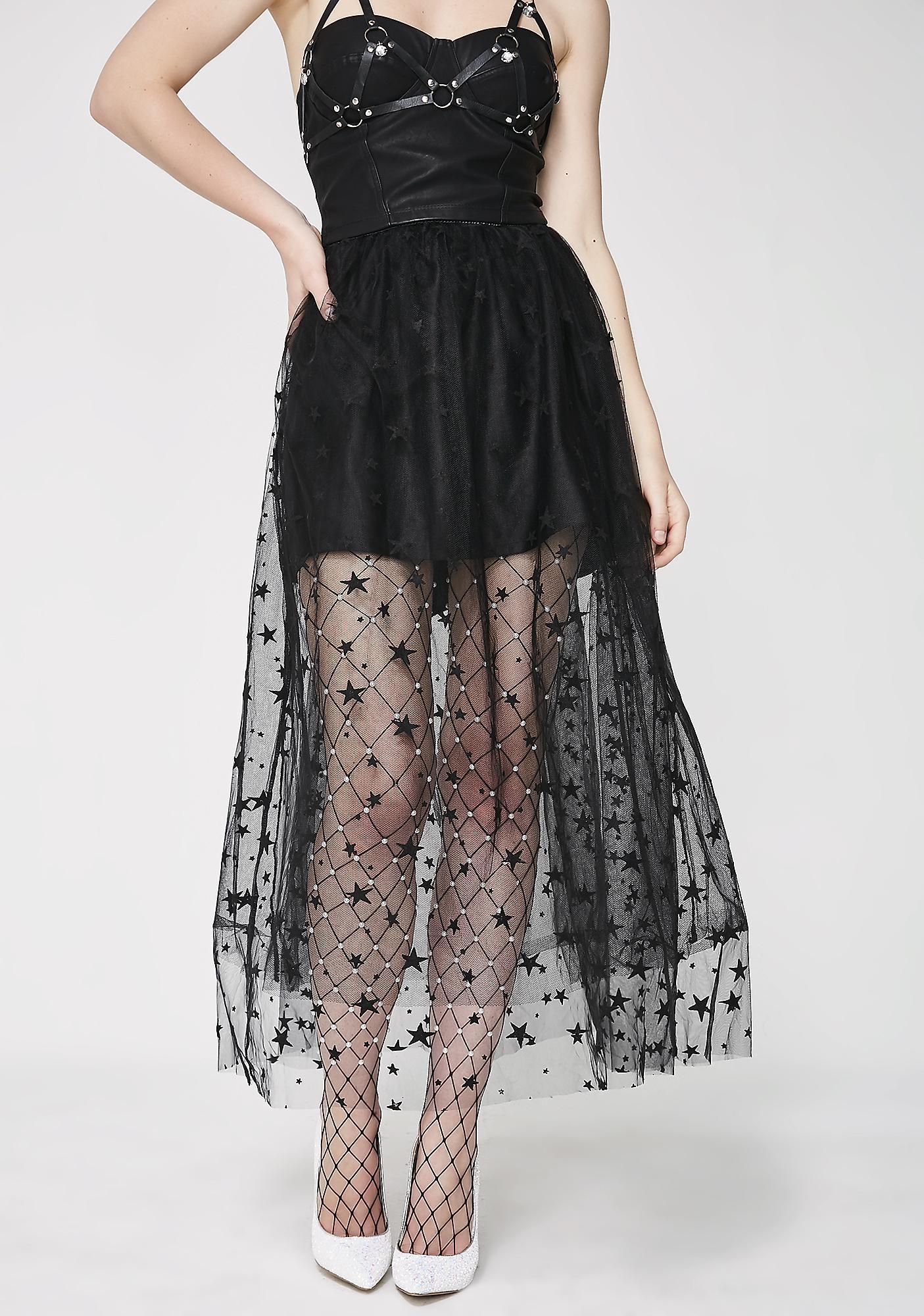 Sugar Thrillz Nights Still Young Star Tulle Skirt Dolls Kill Jolie Clothing Rhey