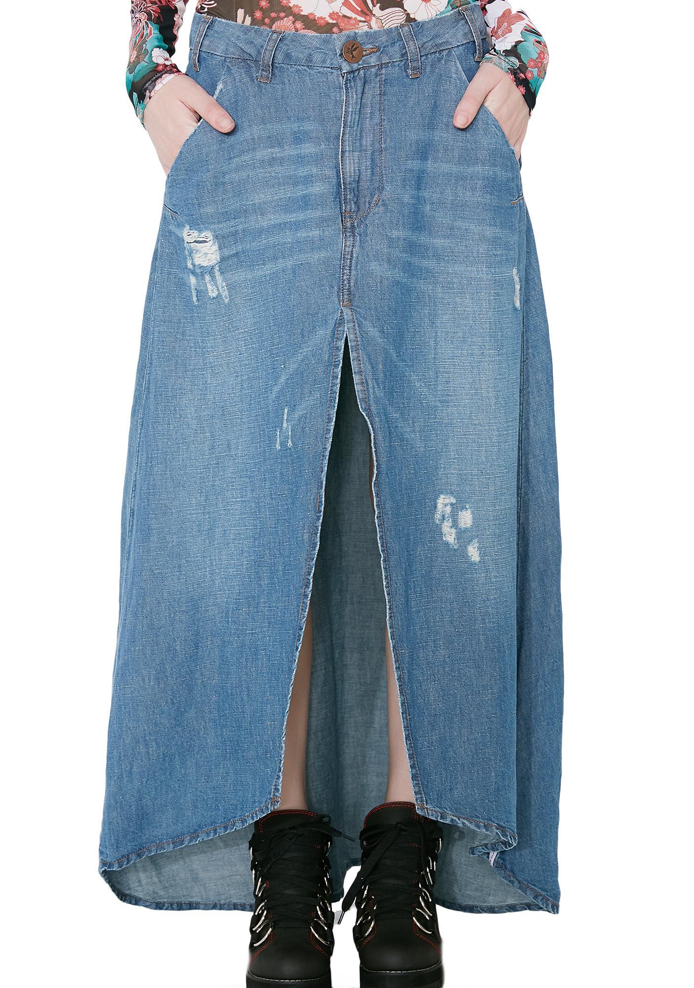 One Teaspoon California Blue Mrs. Carter Skirt
