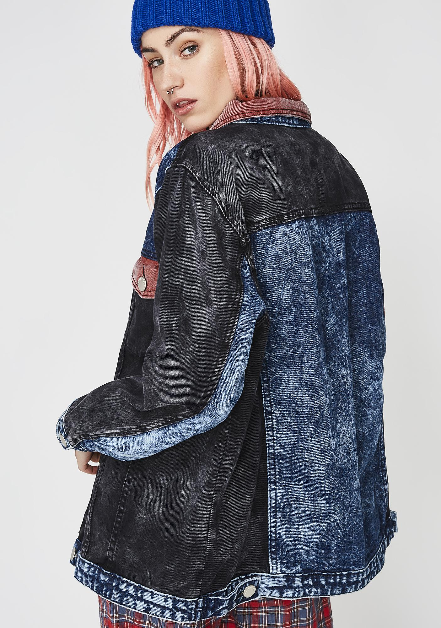 Glamorous Blocked Caller Denim Jacket