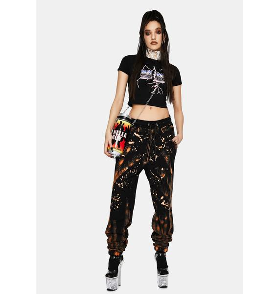 One Above Another Acid Wash Jogger Sweatpants