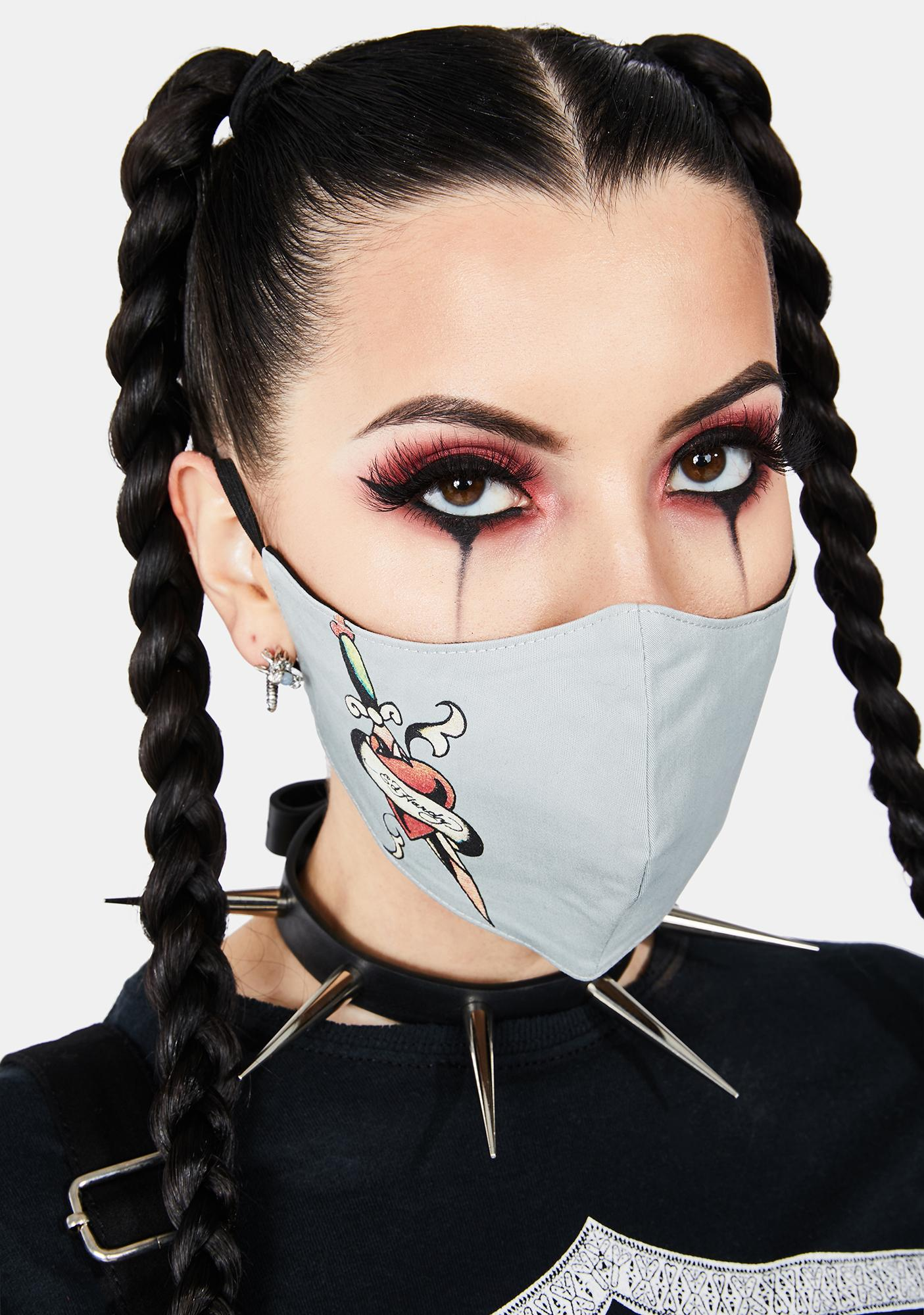 Ed Hardy Heart And Dagger Face Mask