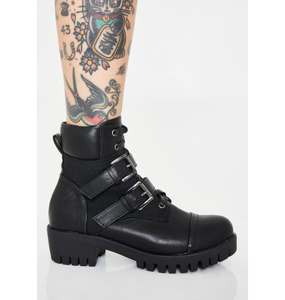 Hardcore Homies Buckle Boots