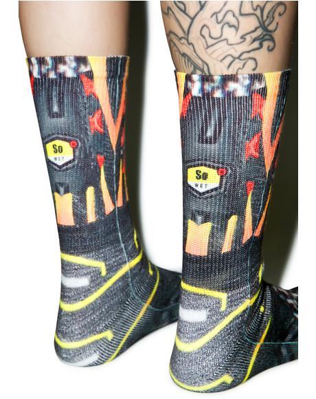 Tuned Red Socks