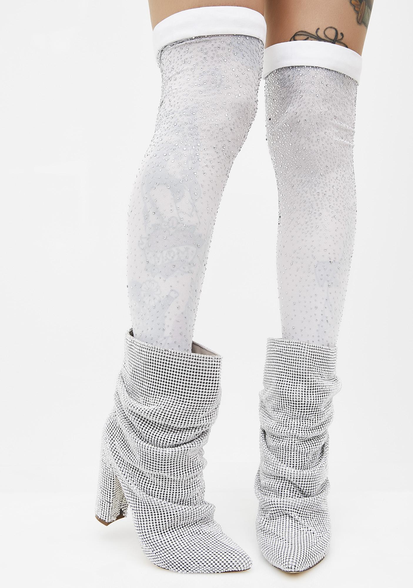 Kiki Riki So Frosty Thigh High Socks