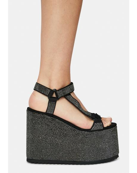 Black Series Platform Sandals