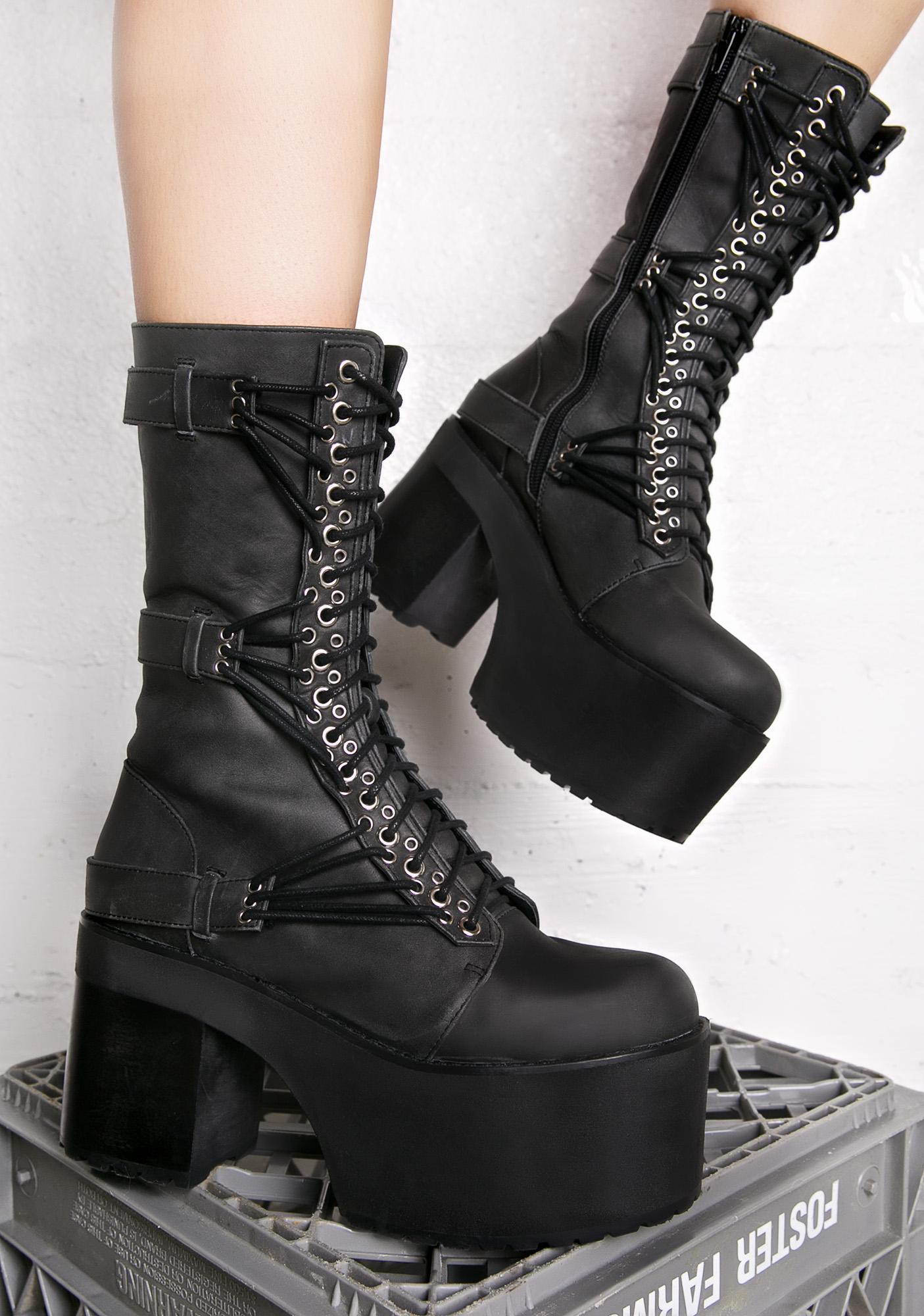 Current Mood Straight Laced Leather Boots