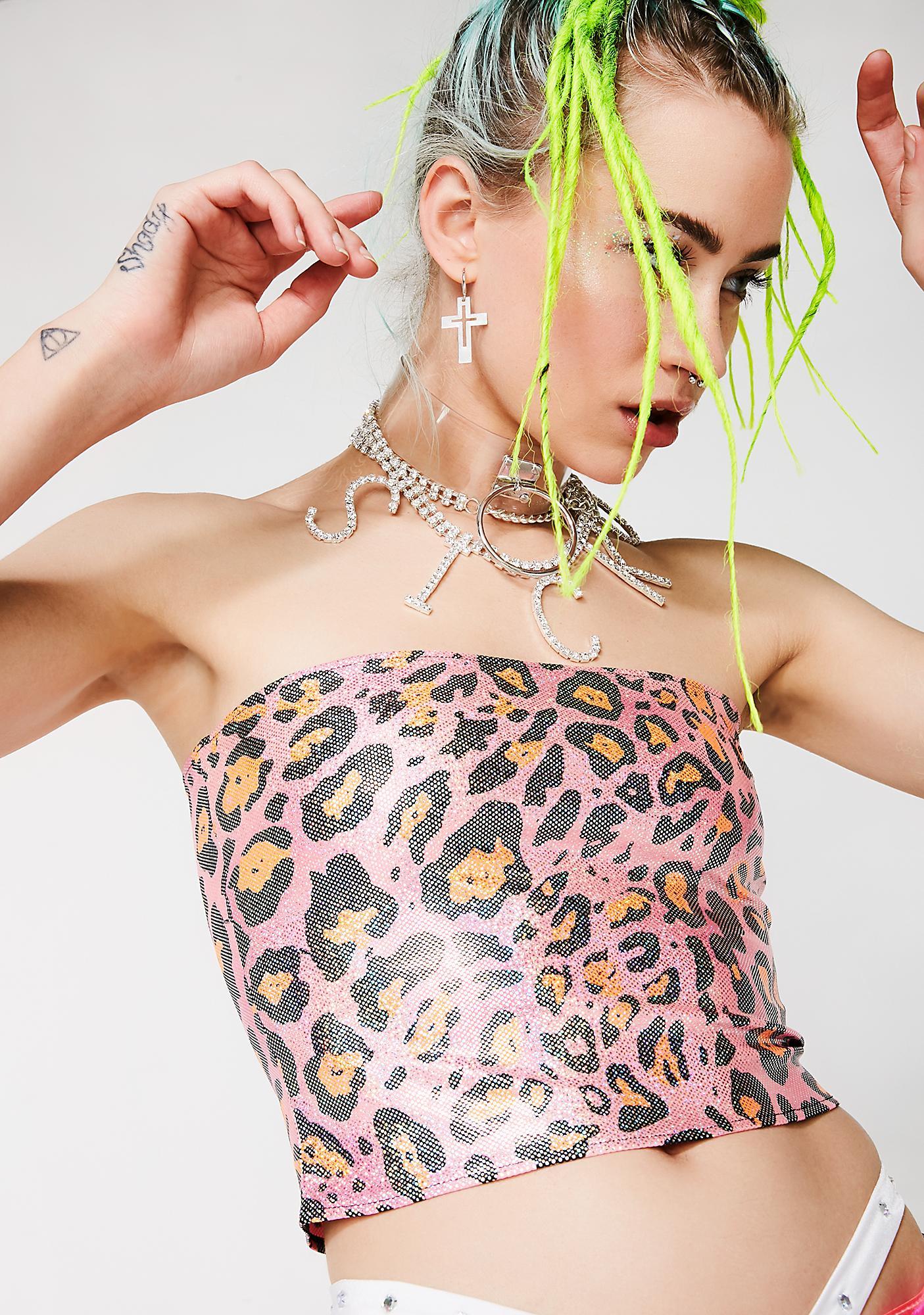 Sicko Cartel Roxanne Cheetah Top