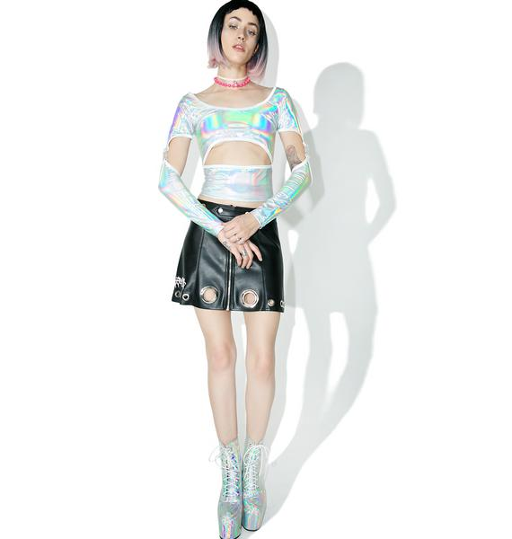 Current Mood Gravitational Hologram Cutout Top