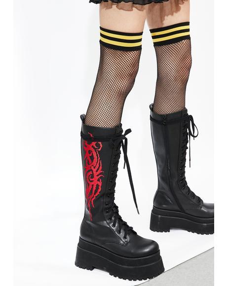 Broken Hymns Combat Boots