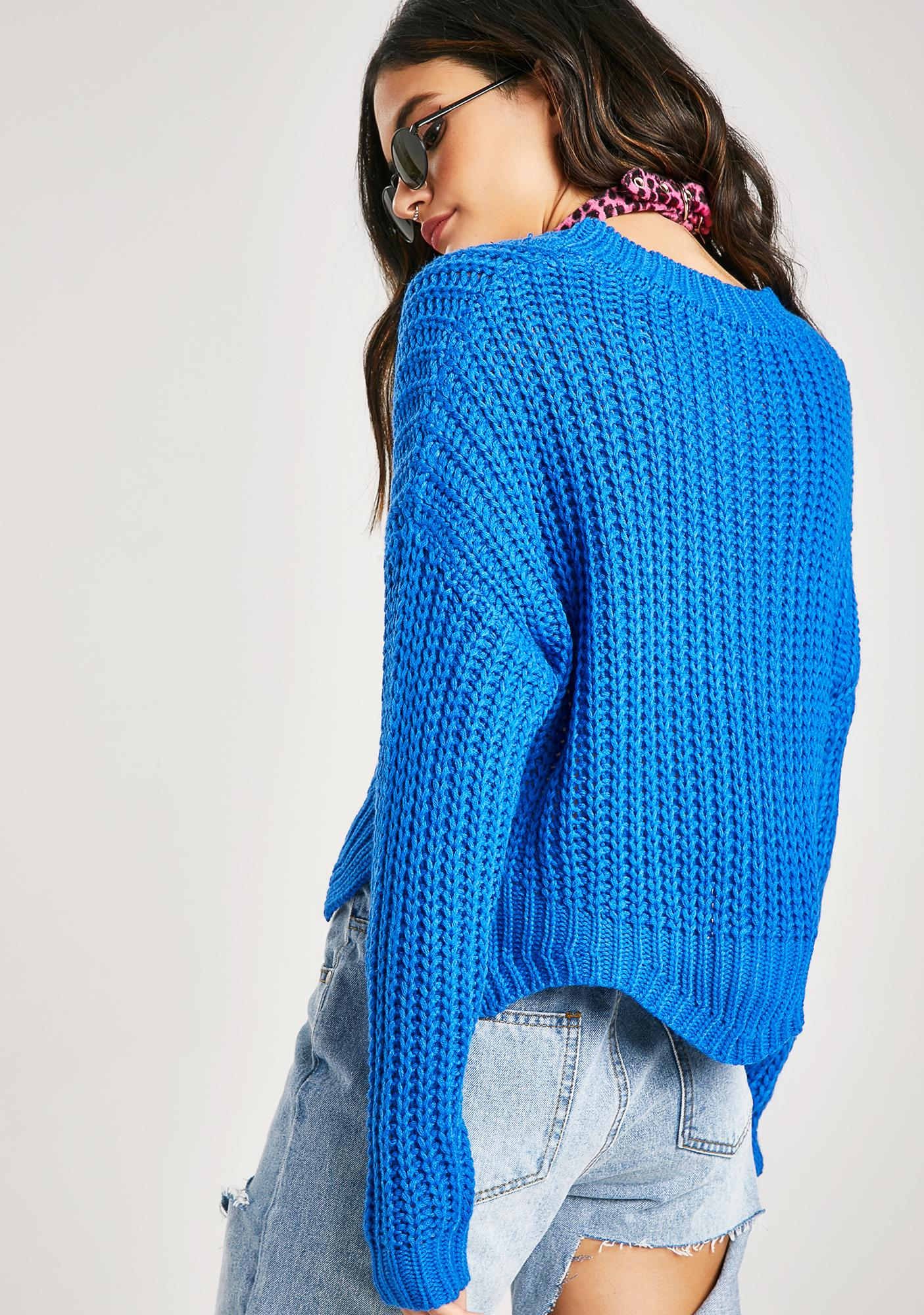 Got The Blues Cropped Sweater