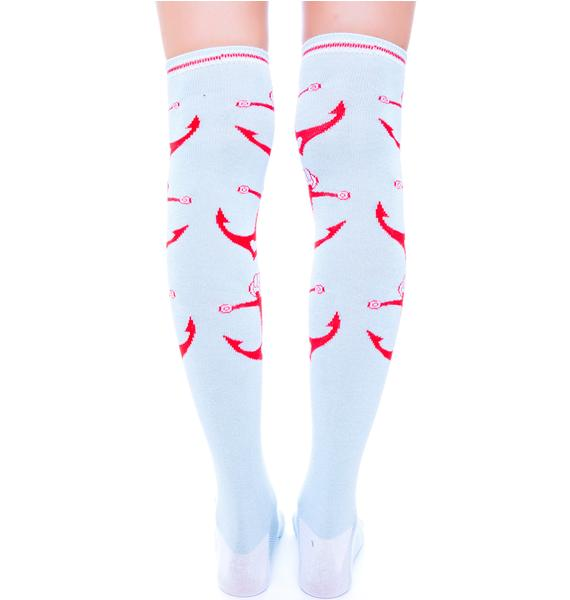 Sourpuss Clothing Anchors Socks