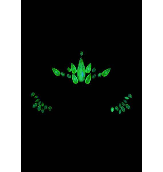 Nuclear Nova Glow In The Dark Face Gems