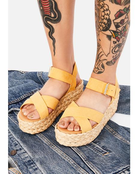 Saffron What A Day Espadrille Sandals