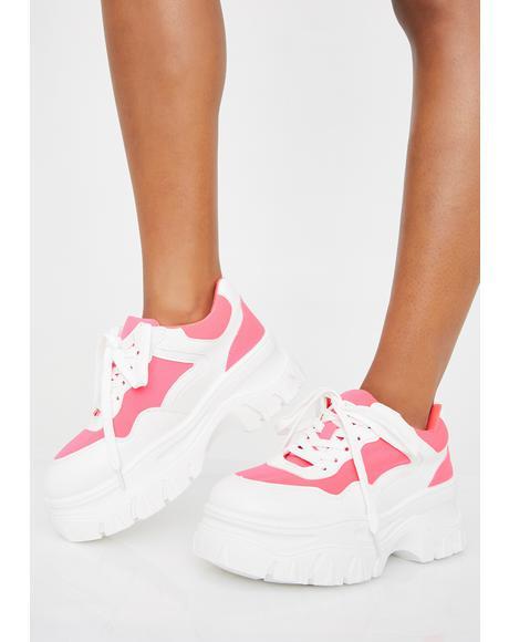 Sweet Insta Pop Platform Sneakers