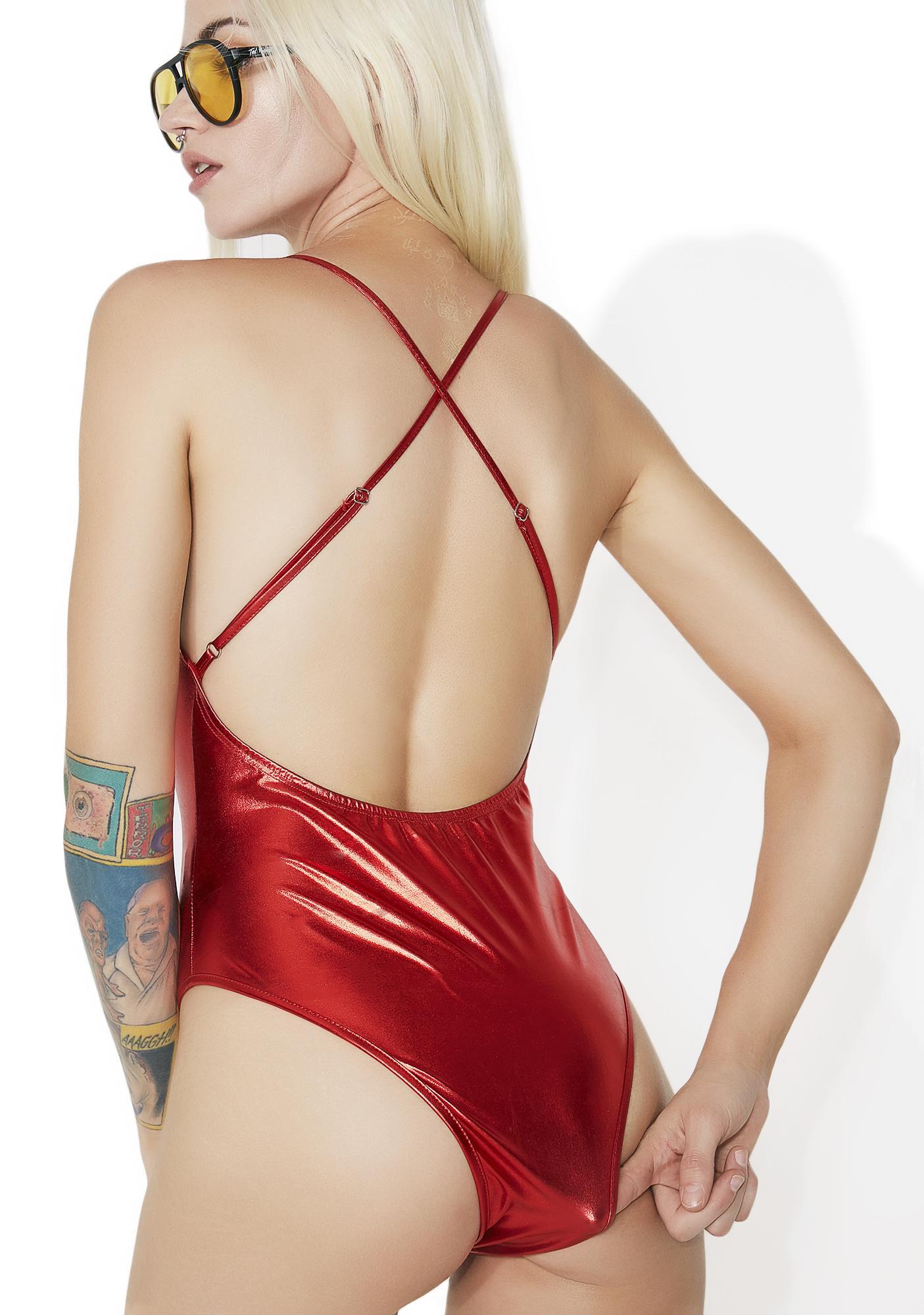 Fire Incandescence Metallic Bodysuit