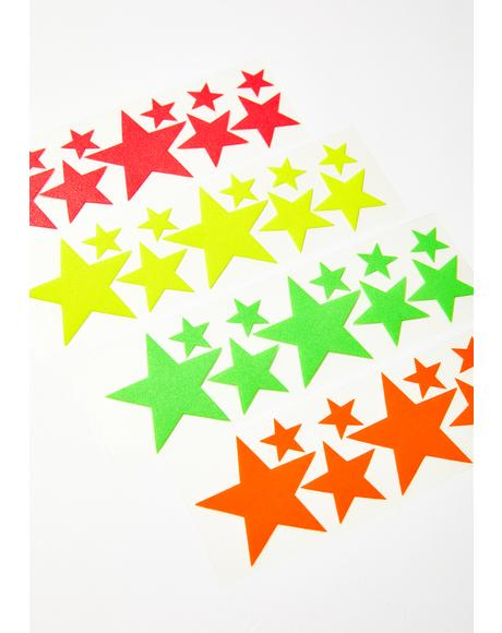 Black Star Body Stickers