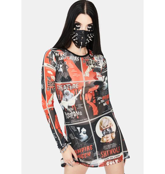 Dolls Kill Fears On Film Mesh Dress