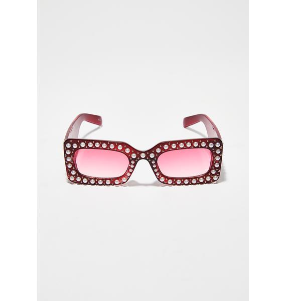 Heart Upper Class Pearl Sunglasses