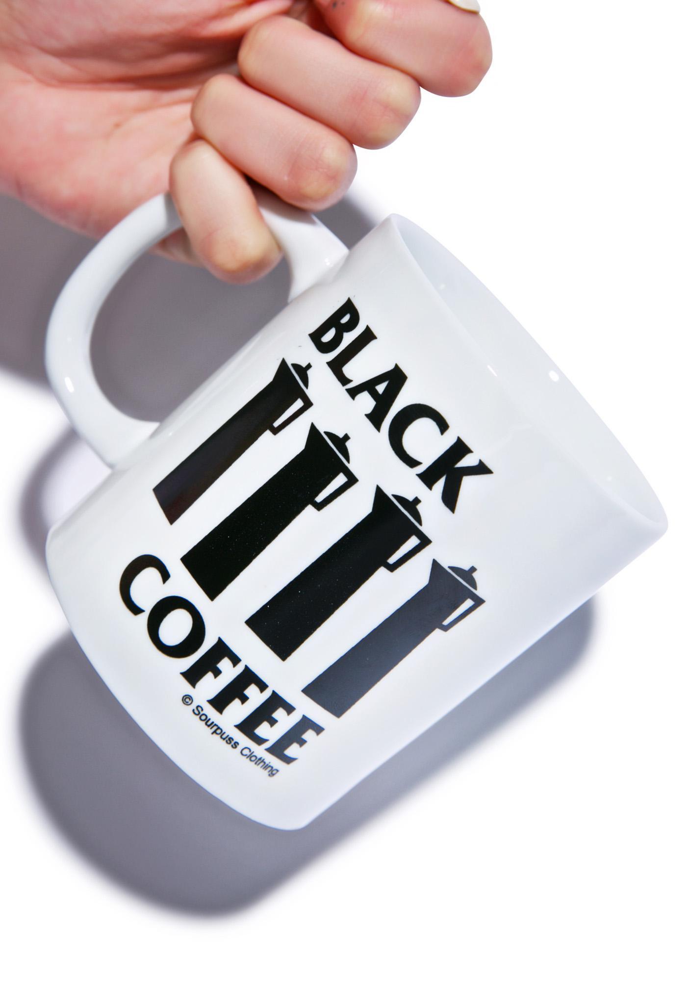 Sourpuss Clothing Black Coffee Mug