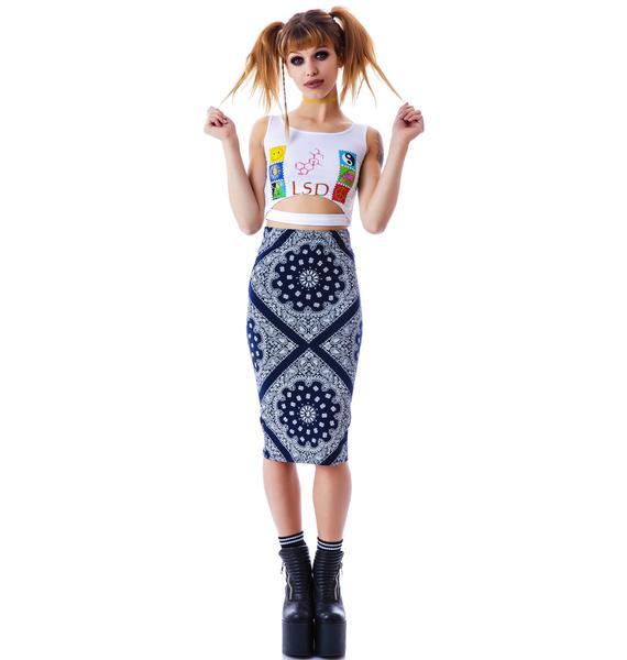 Compton Bandana Midi Skirt