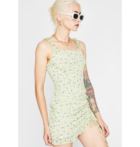 Sunny Gardens Ruched Dress