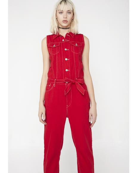 Cropped Taper Jumpsuit