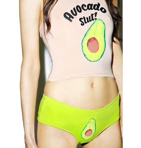 O Mighty Green Avocado Booty Panty