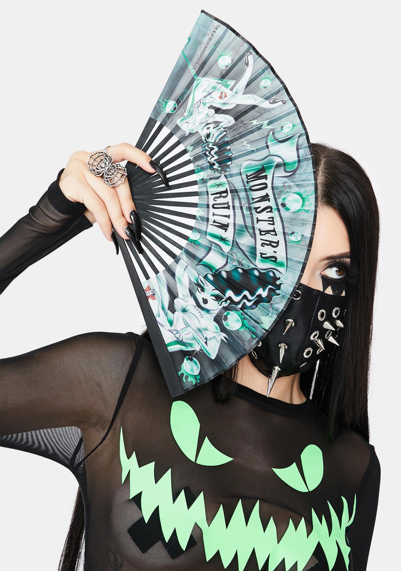 Kreepsville 666 Monsters Ruin Fabric Fan