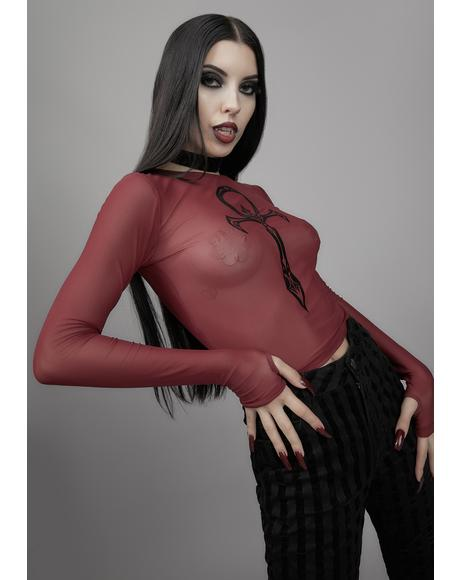Blood Moon Rising Mesh Top