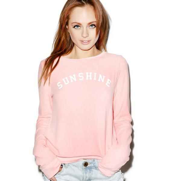 Wildfox Couture Sunshine and Wine Baggy Beach Jumper