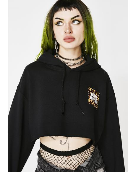 Disco Inferno Cropped Hoodie