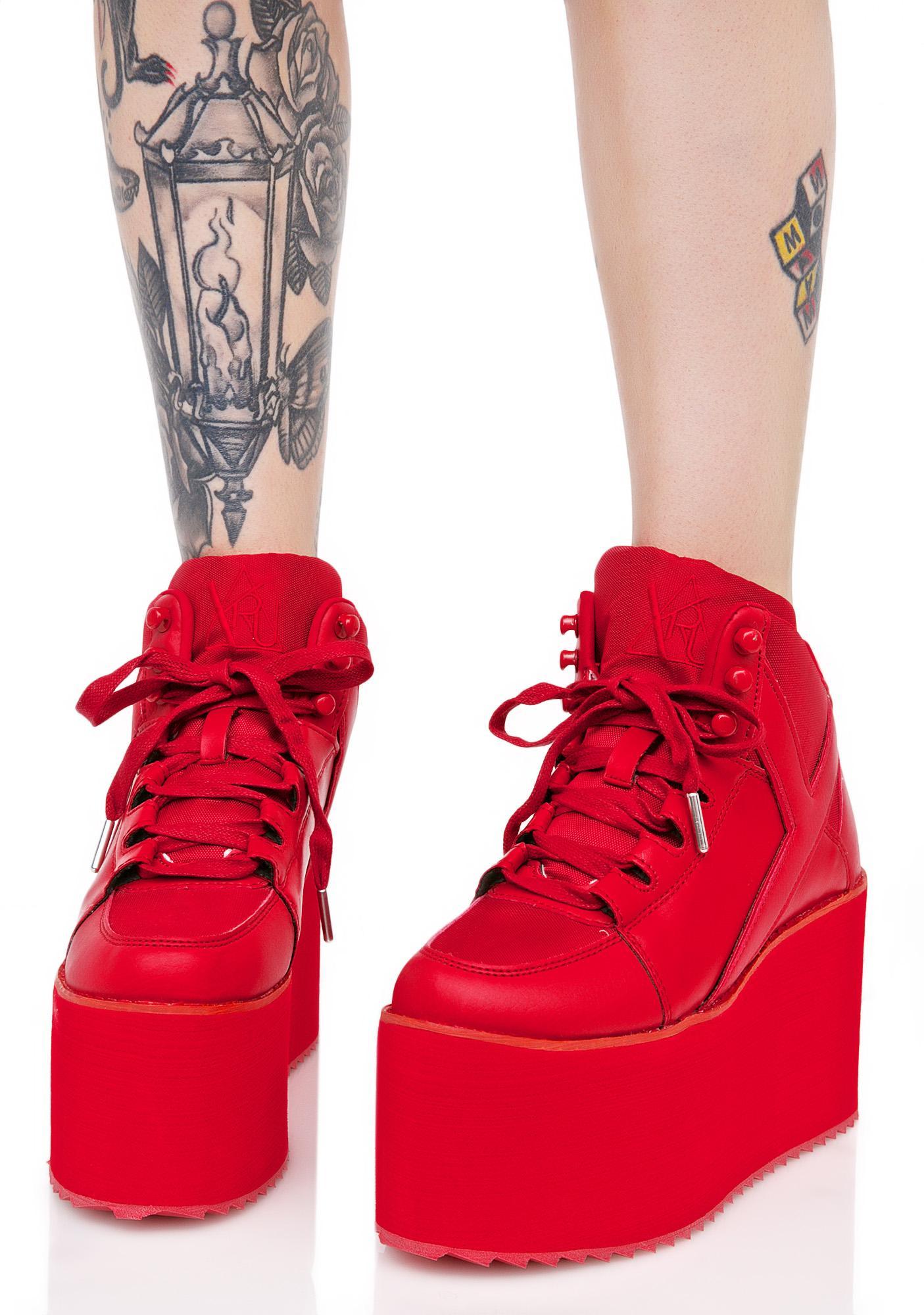 Y.R.U. Redd Hot Qozmo Platform Sneakers