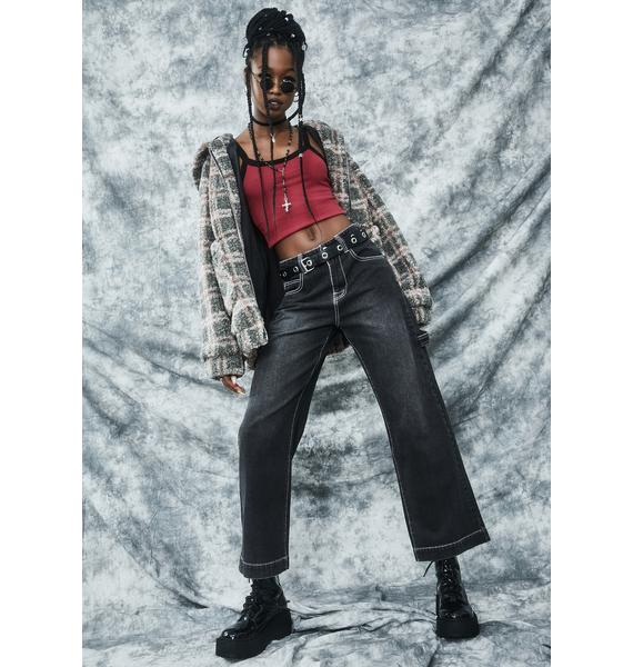 dELiA*s by Dolls Kill Homecoming Hex Wide Leg Jeans