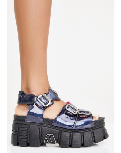 Disco Platform Sandals