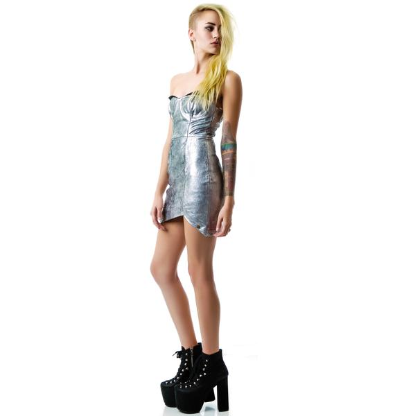 One Teaspoon Fifth Element Leather Dress