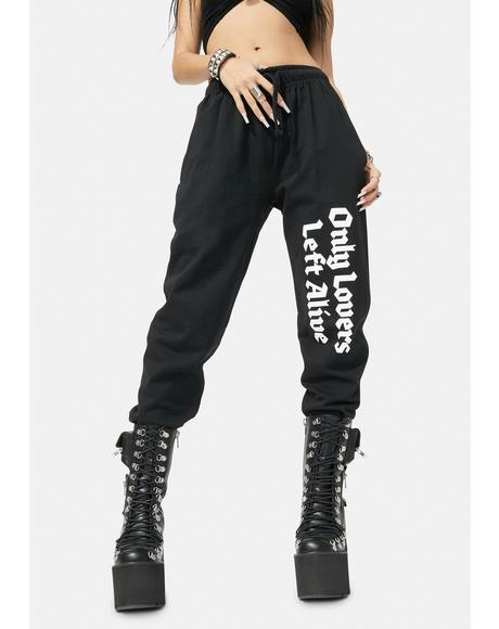 Only Lovers Left Alive Sweatpants