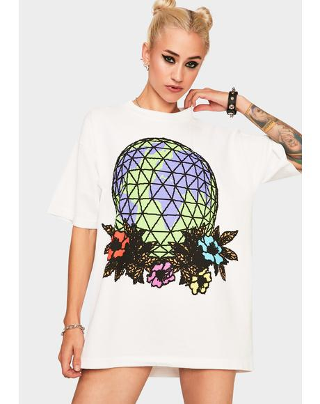 Obey Floral Globe Graphic Tee
