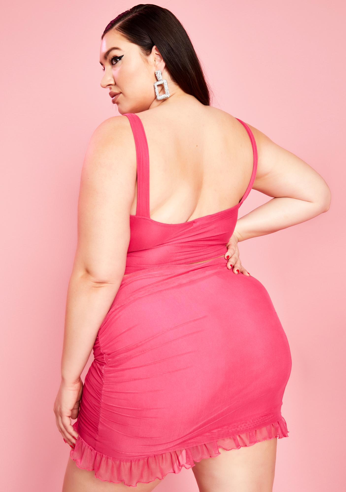 Sugar Thrillz Totally Spoiled Starlet Ruched Mini Skirt