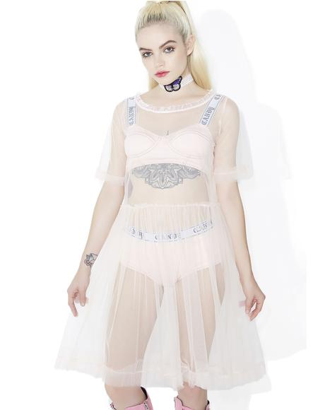 Lips Are Sealed Sheer Babydoll Dress