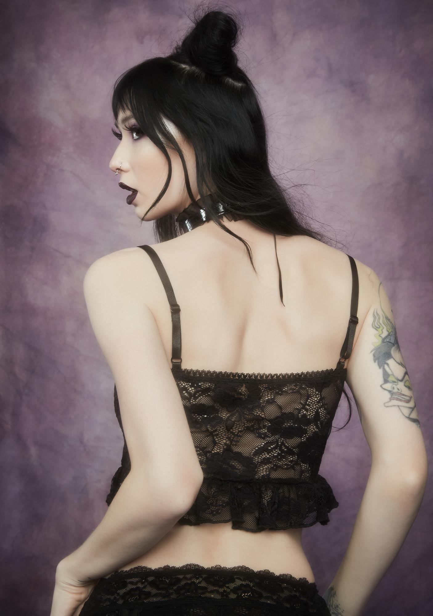 Widow Nettles And Nectar Ruffle Lace Cami Tank