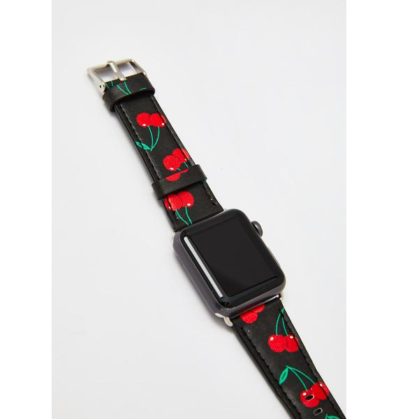 Wildflower Black Cherries Apple Watch Band