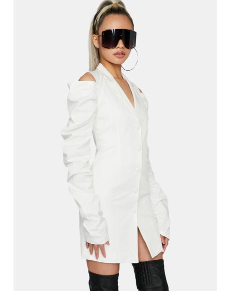 Off White Mini Shirt Dress