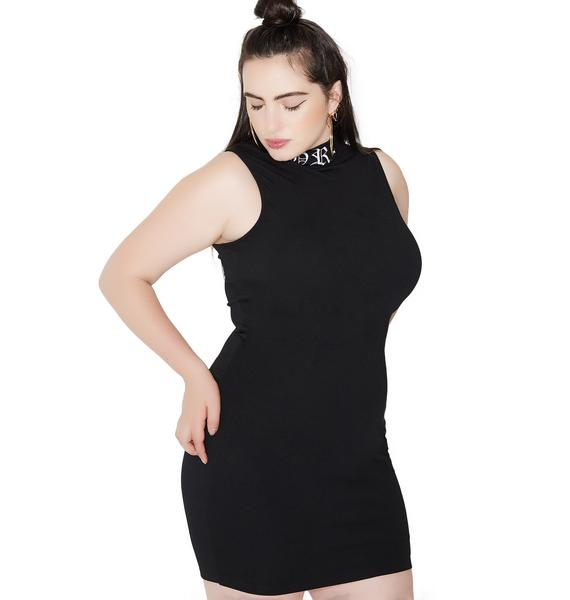 Poster Grl Iconic Embroidered Bodycon Dress