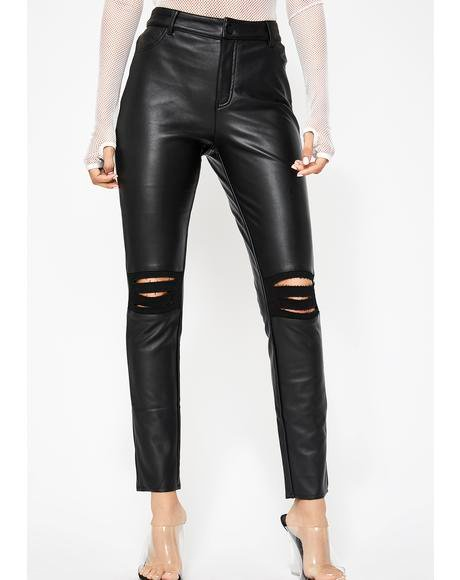 Supa Charged Vegan Leather Pants