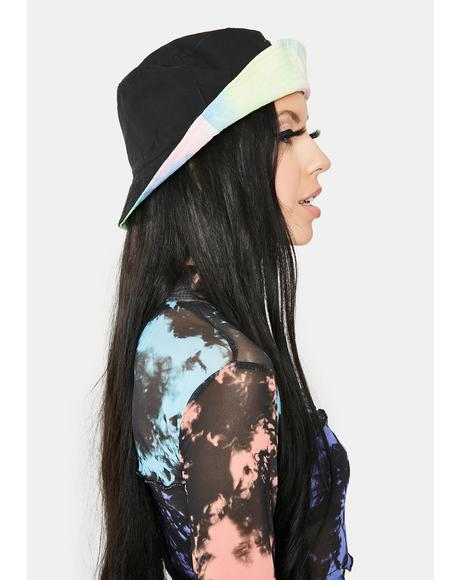 Sherbet Back In The Groove Reversible Tie Dye Bucket Hat