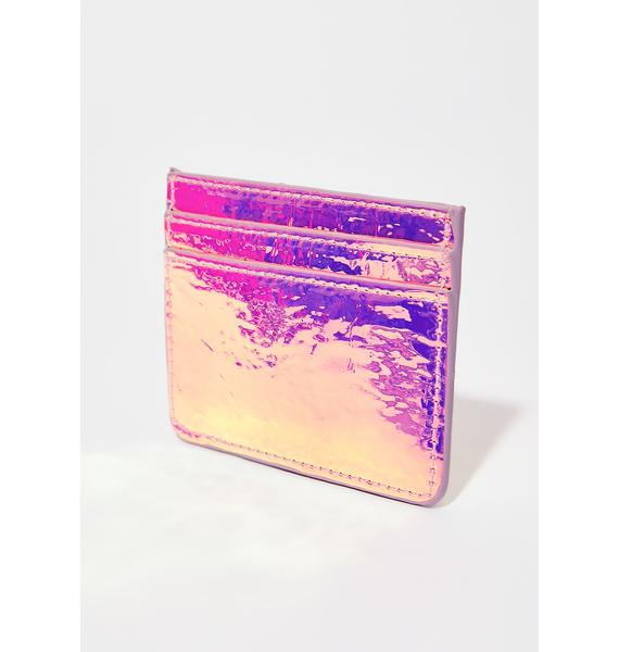 Skinnydip Pink Holo Card Holder