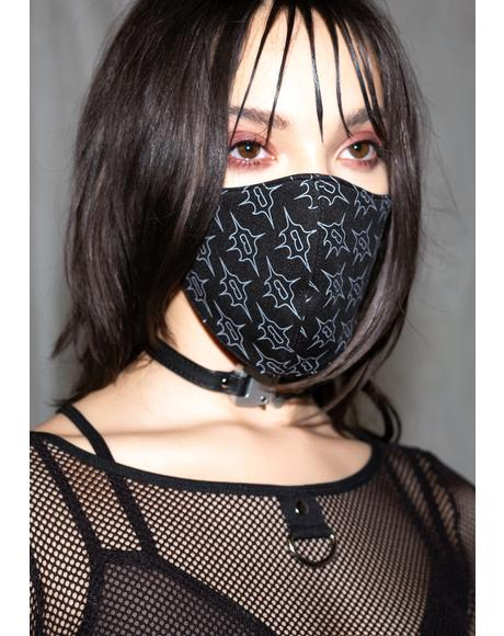 Synth Logo Print Face Mask