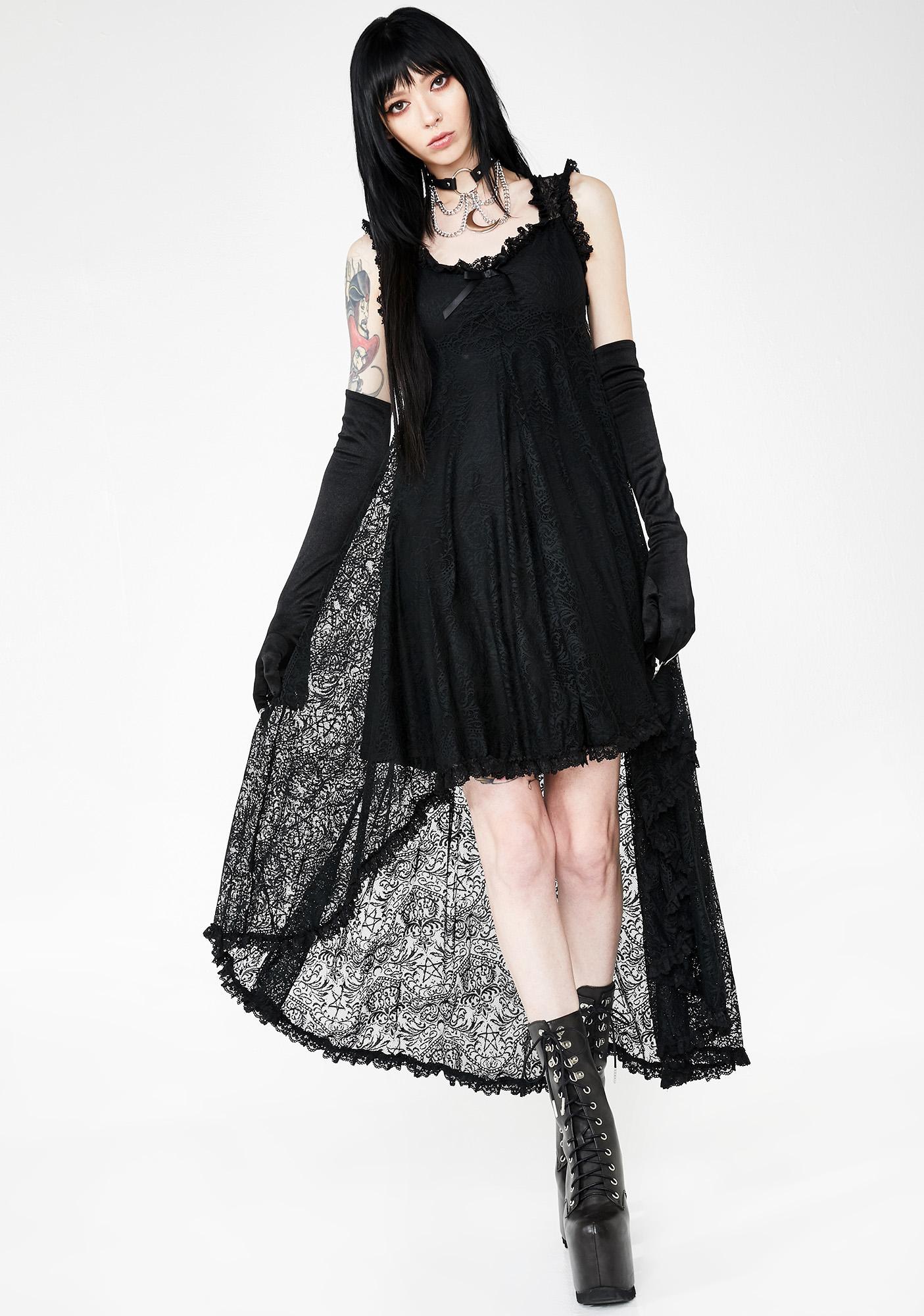 Killstar Willow Lace Maxi Dress
