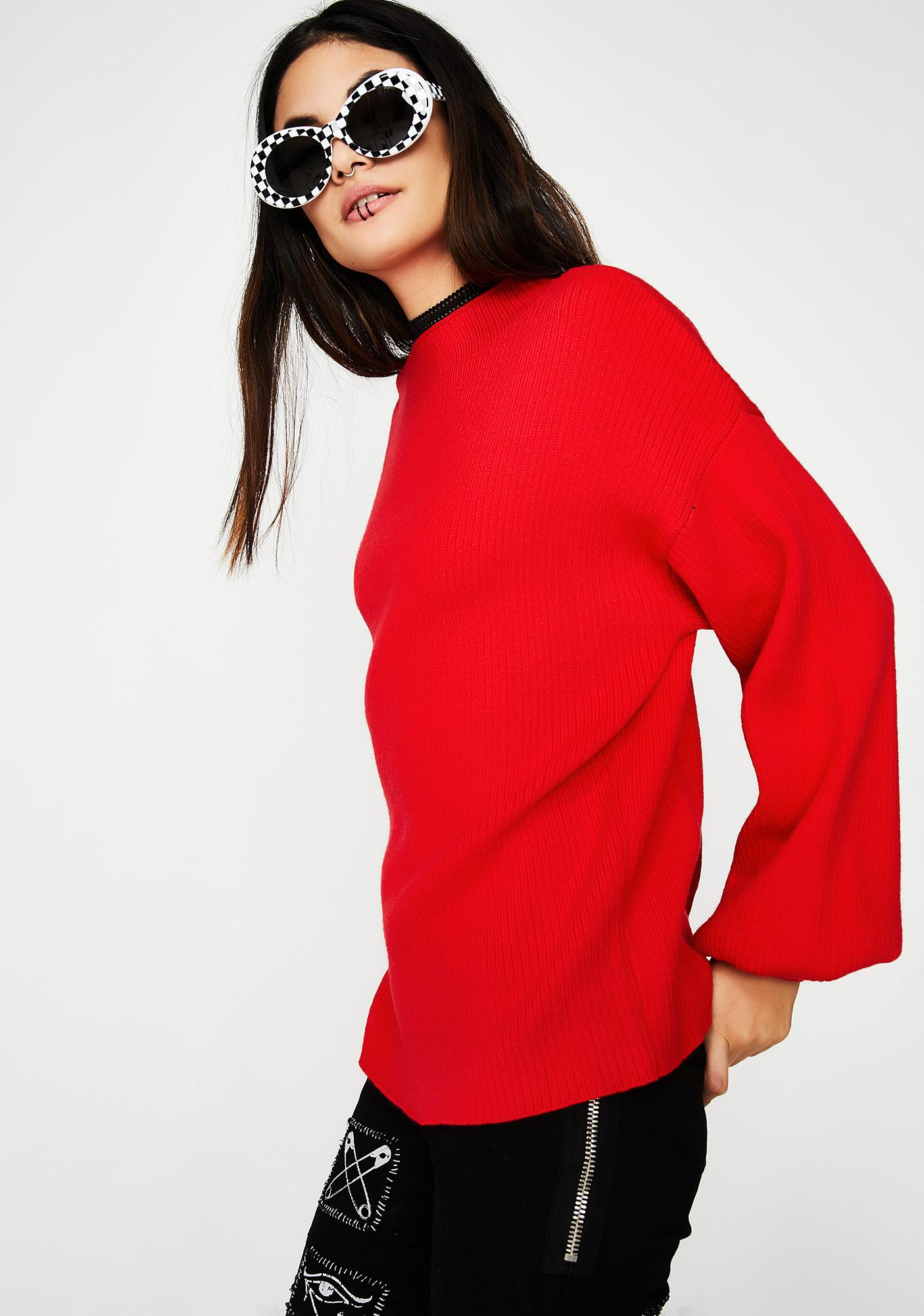 Fire Engine Knit Sweater