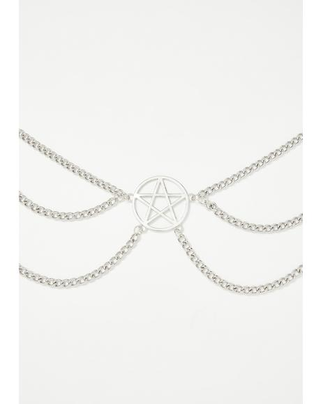 Chained Down Pentagram Belt